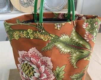 Vintage Floral Tote or Shopping bag