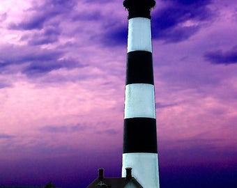 Bodie Island Lighthouse Outerbanks North Carolina - Canvas Gallery Wrap