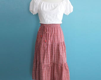 Vintage 1970s Peasant Dress / Dorothy Perkins Cotton Country Dress