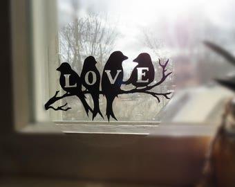 BIRDS DECAL WINDOW Sticker | Rv window Decal | Car Window Decal | Home Window Decal | Vinyl Decal | Love Decal | Bird home decor