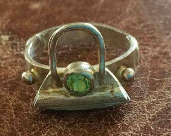 Cast sterling silver purse ring
