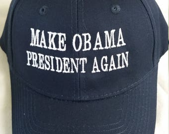 Make Obama president again baseball cap, political saying caps, political movement cap, Obama president again apparel