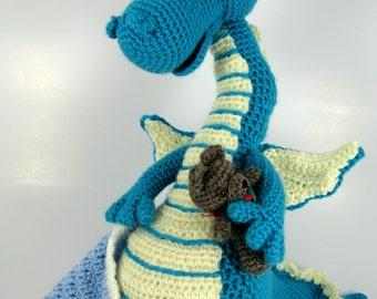 Crochet Sleepy Dragon Amigurumi