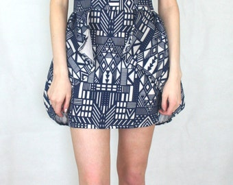Aztec peplum Dress