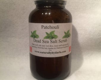 Patchouli Dead Sea Salt Scrub