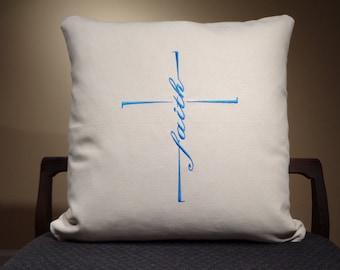 Cross Pillow Cover, Scripture Pillow, Bible Pillow, Bible Pillow Cover, Motivational Pillow, Cross Cushion Cover, Cross Throw Pillow