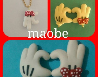 colguijes fun necklace hands mickey mouse