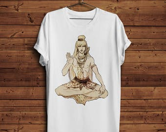 Shiva T Shirt Tee | Cobra God Yoga Vedic Hindu God Hinduism Meditation Religion Spirituality (Men & Women T shirts)