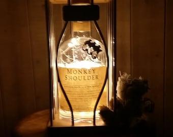 Monkey Shoulder whiskey lamp