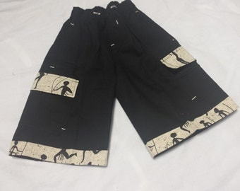 boys african print shorts