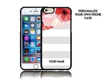 Custom iPhone 6 iPhone 7 Case Custom iPhone 7 Plus Case Monogram Personalized iPhone 7 Case Pink Phone Case