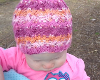 Cabled Baby Hat Pattern