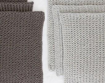 Washcloth/Trivet Set in Shades of Grey