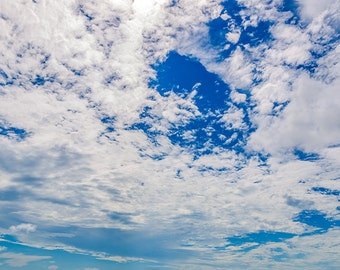 Digital Backdrop | Sky | Clouds | Backdrop | Overlay | Photo Overlay | Photo Backdrop | Fluffy Clouds | Sunny Day | Digital sky