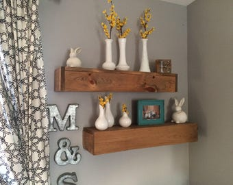 Farmhouse Floating Shelves, Rustic Shelving, Floating Shelves