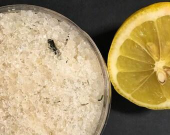 lemon + rosemary dead sea salt scrub