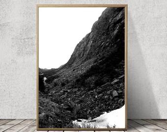 A3 Scandinavian Mountain Art Print