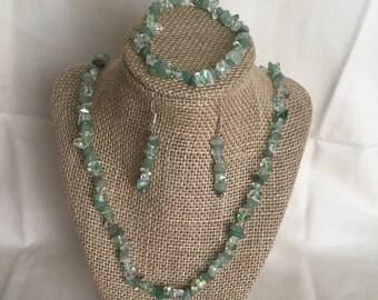 7: Necklace, Bracelet, Earrings Set