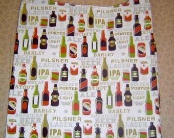 "Reusable Grocery Shopping Bag ""Beer Bottle"" Design"