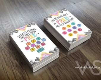 Arrow Sign-Off Card Design Set - 10 Ten Free Item Leggings promotion free Consultant Buy 10 Get Free