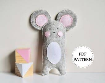 Mouse Softie Pattern | PDF Download | Wool Felt Toy