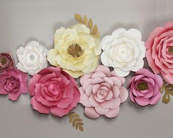 Paper Flowers BackDrop, Photography BackDrop, Flower Wall, Wedding BackDrop, Custom BackDrop, Party BackDrop, Props