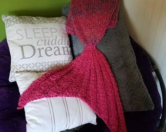 Extra Thick and Cozy Mermaid Tail Blankets- Kids to Adult XL
