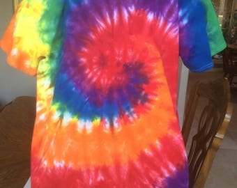 Rainbow Tie Dyed T-shirt Size XL