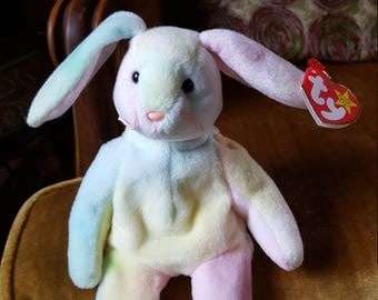 Hippie Beanie Baby Rabbit TY with Errors