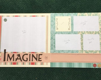 Scrapbook Kit 12x12 double page spread, childhood, love, memories