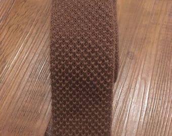 1960s Skinny Knit Square-Ended Necktie