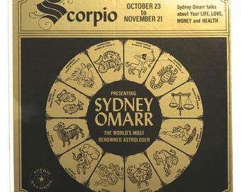 Scorpio Vinyl Record by Sydney Omarr