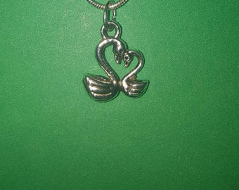 Mother and Child Swan Necklace