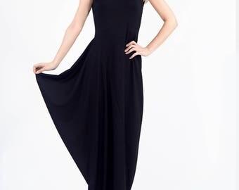 Maxi Dress, Summer Dress, Tank Dress, Black Dress, Black maxi dress, Women Black Dress, Long Black Dress, Womens Dress, Markiiza