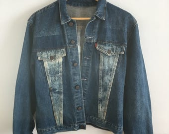Vintage Levi jacket, acid wash denim
