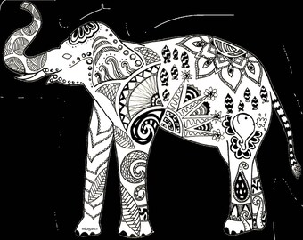 Elephant Digital Print