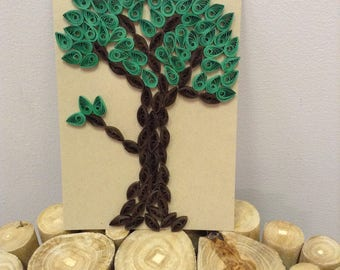 Quilled Tree Greeting Card