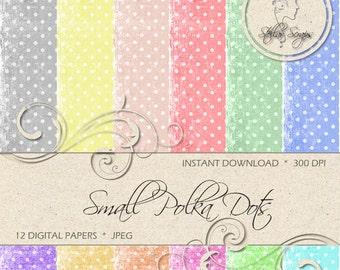Small polka dots Digital Paper Pack