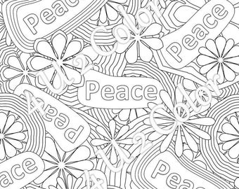 Flower Power 1 Coloring Page