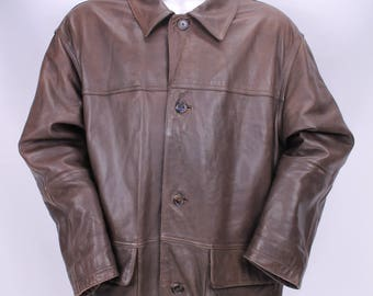 TIMBERLAND Leather Jacket sz XL Jacket Coat Jacket leather Man Man G17