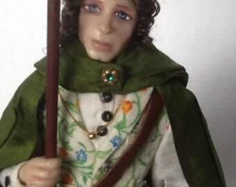 ooak hobbit doll frodo