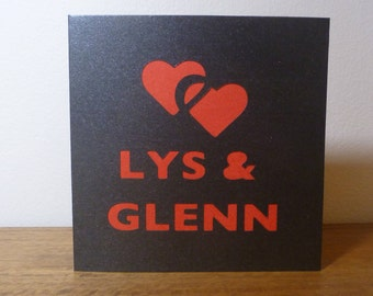 Personalised Couple Name Paper Cut Card