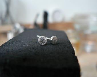 Silver earrings | mat | hand made