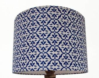 Ada & Ina Brita Cobalt Blue Handmade 20cm 30cm 40cm Drum Lampshade