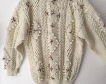 1980's Vintage Granny Sweater