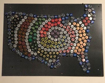 Beer Bottle Cap USA Wall Art