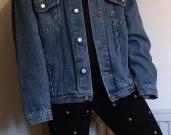 Button Bombed Denim Jacket with Quote (Inspired by Dizzee Kipling from The Get Down)