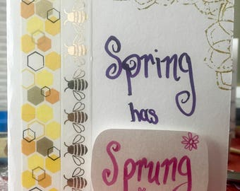 Spring has Sprung Greeting Card w/Direct Mail Option