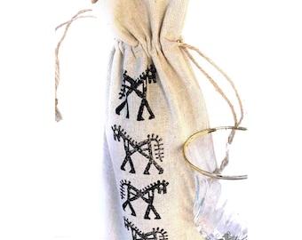 Wine bag Linen gift bags Horse gifts Wine gift Gift for horse lover Gifts for wine lovers Wine bottle holder Horse bag Wine holder Wine tote