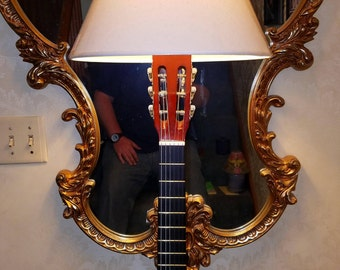 Beautiful guitar lamp
